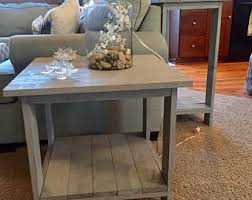 Grey Side Table Side Table Etsy