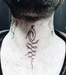 40 small neck tattoos for masculine ink design ideas