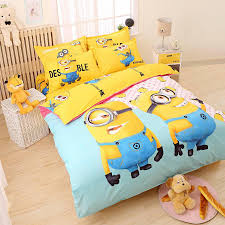 cartoon 3d minions bedding set despicable me 2 hello kitty bed