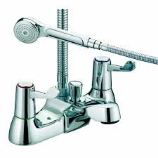 bristan lever wall mounted bridge sink mixer chrome plated with 6
