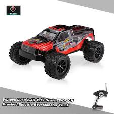 bigfoot remote control monster truck original wltoys l969 rtr bigfoot rc monster truck 2 4g 1 12 scale