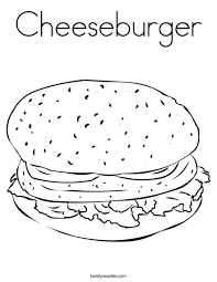 Cheeseburger Coloring Page cheeseburger coloring page twisty noodle