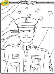 veterans day soldier coloring page crayola com