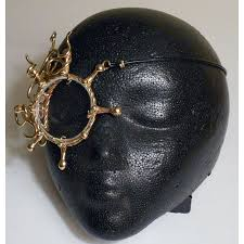steampunk bronze monocle eye piece with octopus design