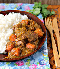 slow cooker coconut curry beef stew coconut sauce curry powder