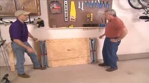 how to build a simple folding workbench today u0027s homeowner