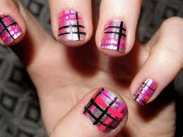 plaid nail designs u0026 how to get attention funyfashion