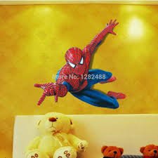 online shop spider man wall sticker wall decal decorative