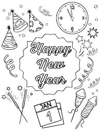 new year stuff happy new year coloring page coloring book happy new year happy new