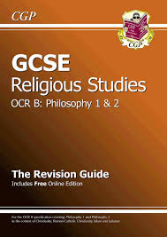 gcse religious studies ocr b philosophy revision guide with