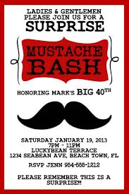 mustache invitations red mustache bash invitation template 4x6