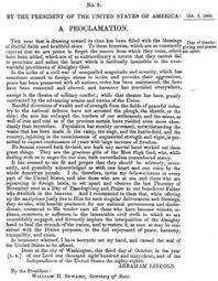 lincoln s historic thanksgiving proclamation of 1863 thanksgiving