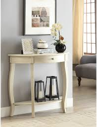 half moon console table with drawer yvonne half moon console table with drawer in antique white ebay