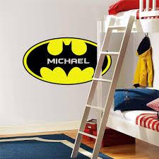 custom names personalised batman logo decal removable wall sticker