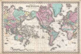 antique map world colton s map of the world on mercator s projection geographicus