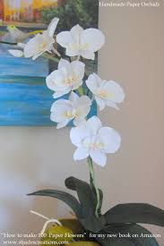How To Make Home Decorations by Paper Orchids Arrangements Home Decor Vase Bowl Handmade Paper