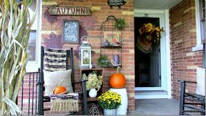 Fall Porch Decorating Ideas Front Porch Decorated For Fall Rustic U0026 Refined