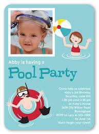 pool party aqua 5x7 flat card birthday invitations shutterfly