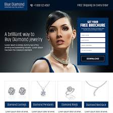 jewelry landing page designs for showcasing your jewelry designs