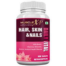 musclexp hair skin u0026 nails complete multivitamin with biotin 60