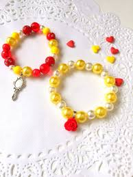 party favor bracelets autumn sale beauty and the beast inspired kids jewelry beaded