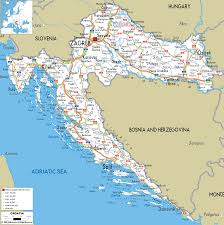 Adriatic Sea Map Croatia Road Map Transport Map Of Croatia Croatia Transportation