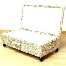 ikea under bed storage blanket storage chest ikea wicker blankets basket small size of