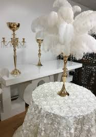 Crystal Vases For Centerpieces Centerpiece Rental Flowers Ostrich Feathers Crystals Candelabras