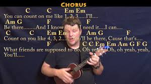Count On You By Bruno Mars Count On Me Bruno Mars Ukulele Cover Lesson In C With Chords