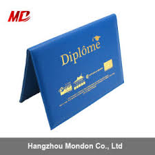 graduation diploma covers china wholesale 8 5 11 foil sting custom logo royal blue pu tent