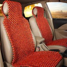 natural wood wooden beaded seat cover massage cool comfortable car