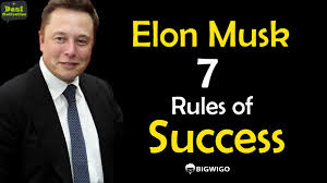 elon musk paypal elon musk 7 rules of success paypal tesla spacex founder