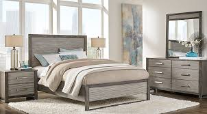 abbott gray 5 pc king panel bedroom king bedroom sets colors
