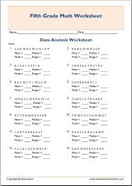 mean median mode math worksheets archives edumonitor