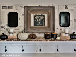 our home love fall mantel ledge ideas