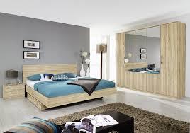 chambre a coucher moderne en bois chambre à coucher complète contemporaine chêne clair vanina ii