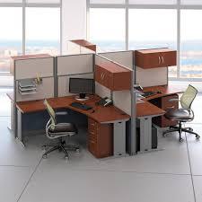 dual desk office ideas bush office in an hour l shaped double workstation computer desk