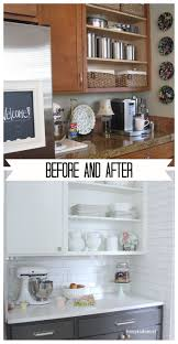 70 best design ideas using rta kitchen cabinets images on amazing kitchen transformation two toned cabinets planked walls and open shelving by the inspired