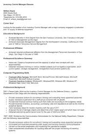 Production Supervisor Resume Sample by Download Inventory Control Resume Haadyaooverbayresort Com