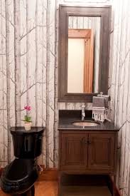 Free Standing Bathroom Vanities by Mountain Style Powder Room Designs Powder Room Rustic With Winter
