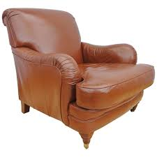 Leather Club Armchair Antique Style Howard And Sons Design Tan Leather Club Armchair At