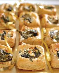 baked canapes feta and artichoke canapes vegetarian recipe