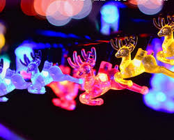 solar powered outdoor string lights reindeer solar fairy string lights ip65 20ft 30 led waterproof