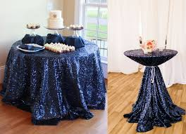 tablecloths decoration ideas more size option shiny navy blue sequin tablecloth 72in