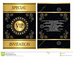 Invitation Cards Template Vip Invitation Card Template Stock Vector Image 46087272