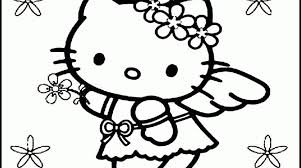 simple kitty coloring pages print placement gekimoe u2022 28986