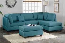 Sofa And Sectional Blue Fabric Sectional Sofa And Ottoman A Sofa