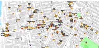 Map Upstate New York by Map All Of The Former And Current Bars In New York City