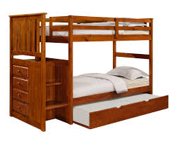 Bunk Bed With Trundle Mission Stairway Bunk Bed Trundle Espresso