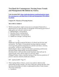 download contemporary nursing issues trends and management 5th